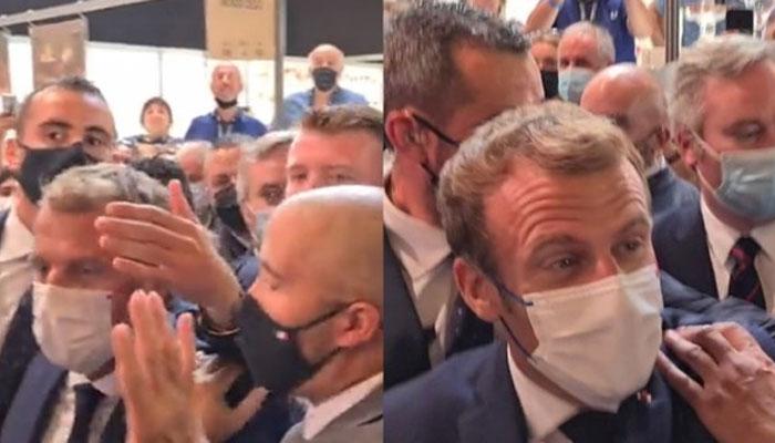 France  Macron cible d un jet d oeuf lors d un salon de la restauration