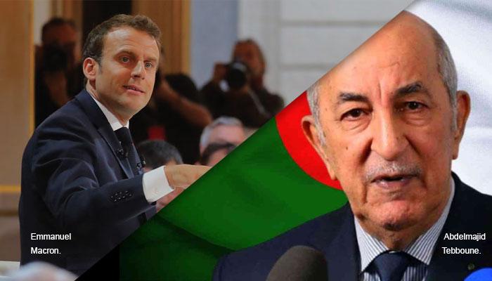 Emmanuel Macron qualifie le r  gime alg  rien de  fatigu   et fragilis   par le Hirak